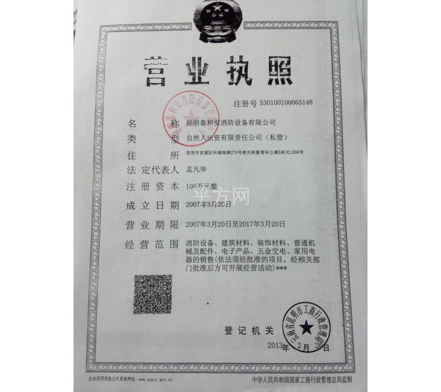 昆明泰和安消防设备有限公司