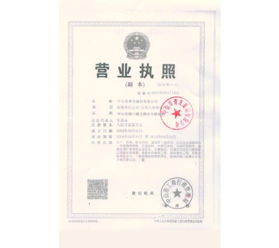 秦皇岛青龙营业执照