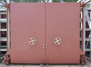 鋼筋混凝土活門檻雙扇防護密閉門圖片