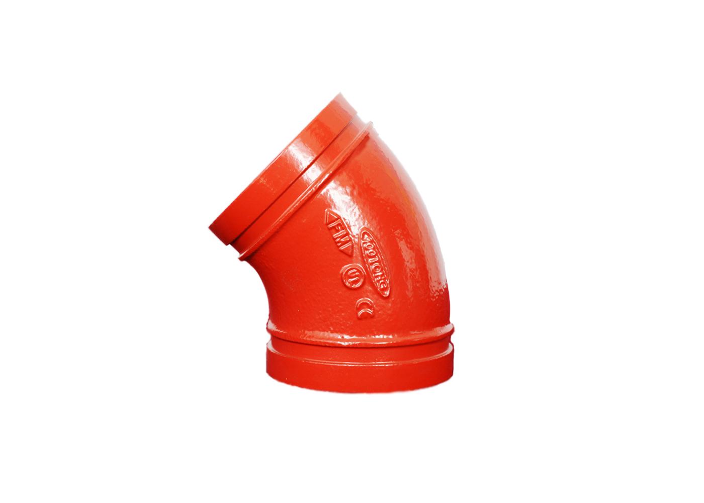 45°沟<em style='color:red'>槽式</em>弯头图片