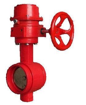 <em style='color:red'>球鐵信號</em><em style='color:red'>蝶閥</em>(<em style='color:red'>溝槽</em>式)圖片