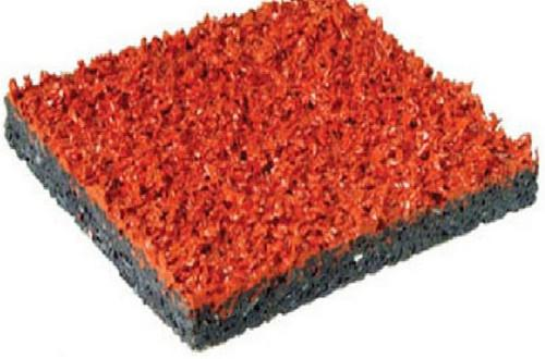 桔红色全透气EPDM<em style='color:red'>塑胶颗粒</em>面层图片
