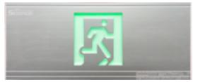 塑料吊装式集中电源集中控制造<em style='color:red'>消防应急标志灯</em>图片