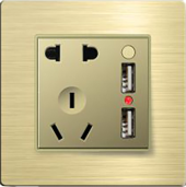 一联双USB电源<em style='color:red'>插座</em>、二<em style='color:red'>三级插座</em>(功能件)图片