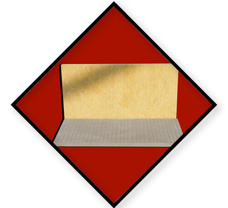 預涂覆界面劑巖棉板圖片
