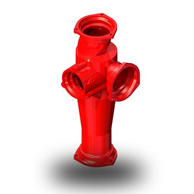 右单立管<em style='color:red'>立体</em><em style='color:red'>四通</em>图片