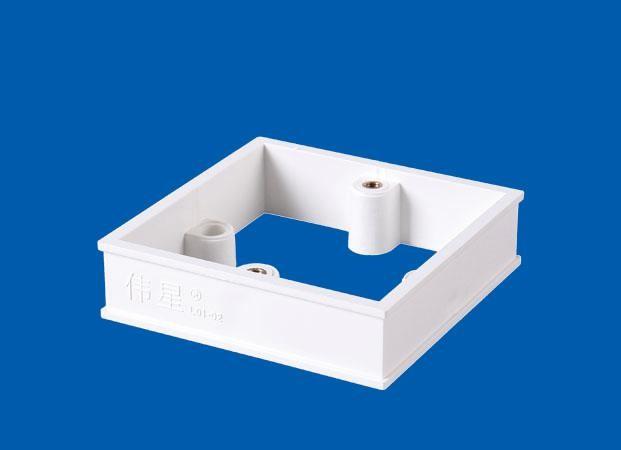 PVC-U线盒<em style='color:red'>加高圈</em>图片