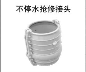 PVC-U不停水搶修接頭圖片